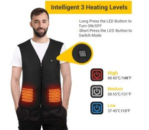 ROCKPALS Heated Vest for Men and Women with Battery, Electric Warmer Vest Rechargeable