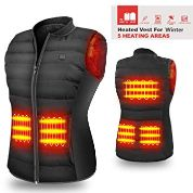HOOCUCO 5V Lightweight Heated Vest Size Adjustable