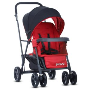 Joovy Caboose Graphie Stand on Tandem Stroller, Red