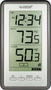 La Crosse Technology Indoor Outdoor Temperature WS-9160U-IT Digital Thermometer, Titianium
