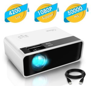 Mini Projector, CiBest Video Projector 4200 lux with 50,000 hrs Long Life LED Portable, Best Projectors below 100