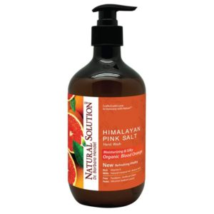 Natural Solution Himalayan Pink Salt Liquid Hand Soap, Moisturizing & Refreshing, Blood Orange