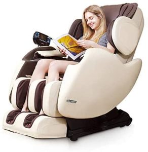 Rothania Ospirit New Electric Full Body Shiatsu Massage Chair Recliner Straight I Track 3yr Warranty (Beige)