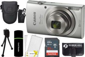Canon PowerShot ELPH 180 20MP 8X Zoom Best Camera under 300 (Silver), Accessory Bundle