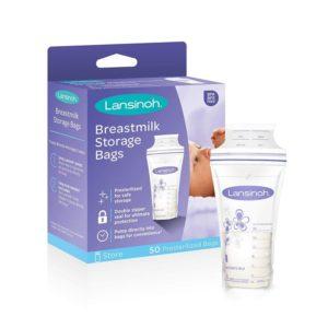 Lansinoh Best Breast Milk Storage Bags, 50 pack, 6oz (180ml)