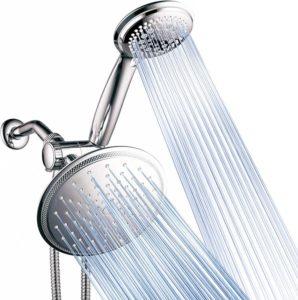 Best Dual Shower Head, 8-Setting Rainfall Shower Rainfall Head, 7-Function