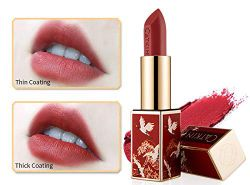 CATKIN Rouge Matte Lipstick, Waterproof Long Lasting Satin Nourish Moisturizing Smooth Soft…
