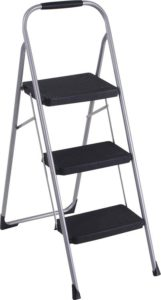 COSCO Three Big Folding Step Stool with Rubber Hand Grip