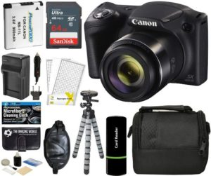 Canon PowerShot SX420 IS Digital Best Camera under 300 with 20MP, 42x Optical Zoom, 720p HD Video, Accessory Bundle
