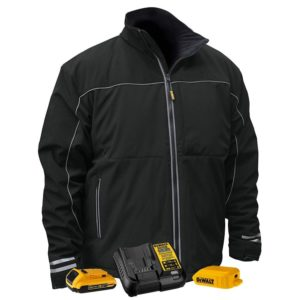 DEWALT DCHJ072 Lightweight, soft shell jacket with 2.0Ah Battery and Charger