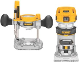 DEWALT Router Fixed Plunge Base Kit, Variable Speed, 1.25-HP Max Torque (DWP611PK)