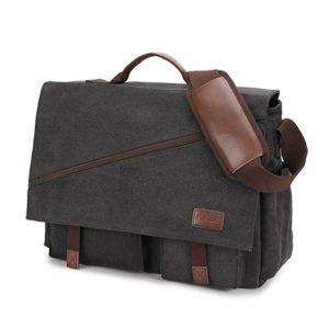 Messenger Bag for Men, Water Resistant, 17-inch Laptop