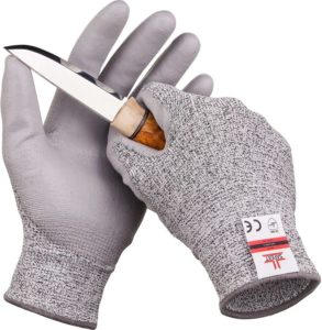 SAFEAT Safety Grip Unisex Best Work Gloves – Protective, Flexible, Cut Resistant, Comfortable PU Coated Palm