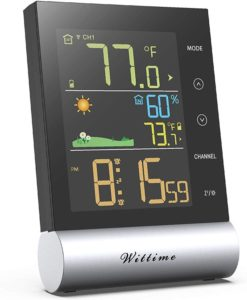Wittime Latest 2079 Wireless Best Indoor Outdoor Thermometer, Digital Temperature Humidity Monitor with High Precision…