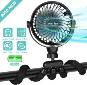Best Stroller Fan and Portable Handheld Fan, 360-Rotation