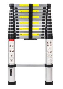 Luisladders Aluminum and Telescopic Extension Ladder, 12.5 ft and weight capacity 330 pounds