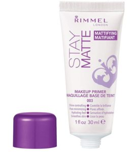 Rimmel Stay Matte Primer, 1 Ounce (1 Count), Makeup Primer, Refines Pores, Stops Shine, smooth Skin, For Use under Makeup