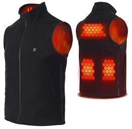 Vinmori Polar Fleece Electric Heated Vest, Lightweight Heated Clothing (Unisex) (Battery Not Included
