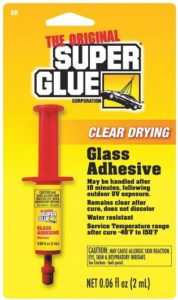 Glass Adhesive, Best Glue for Glass, UV Cure, 0.06 oz Tube, Clr