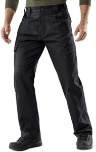 CQR Men's Best Tactical Pants, Water Repellent Ripstop Cargo Pants, Lightweight EDC Hiking Work Pants, Outdoor Apparel
