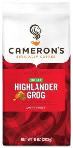 Cameron's Coffee Roasted Ground Coffee Bag, Flavored, Decaf Highlander Grog, 10 Ounce