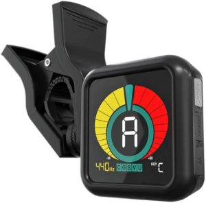 KLIQ UberTuner - best guitar tuner for Professional Clip-On Tuner for All Instruments - with Guitar, Ukulele, Violin, Bass & Chromatic Tuning Modes