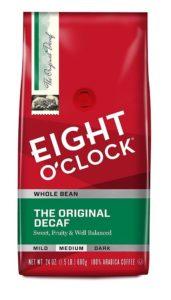 Eight O'Clock Whole Bean Coffee, Original Decaf, Best Decaf Coffee, 24 Ounce
