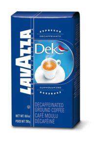 Lavazza Dek Ground Coffee Blend, Best Decaf Coffee, Decaffeinated Dark Espresso Roast, 8.8-Ounce Bag
