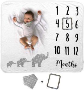 Novo Baby Monthly Milestone Best Baby Blankets