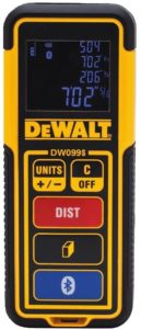 DEWALT Best Laser Measure Tool Distance Meter, 100-Feet with Bluetooth (DW099S)