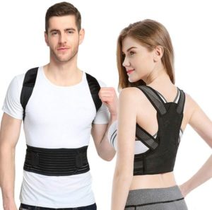 Sixport Posture Corrector for Women & Men, Kyphosis Brace, Adjustable & Comfortable Scoliosis Back Humpback Correction Belt for Students & Children Adult (Waistline 29-33)