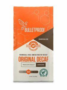 Bulletproof Best Decaf Coffee, The Original Ground Decaf, Premium Gourmet Medium Roast Organic Beans, Upgraded Clean coffee 12-Ounce