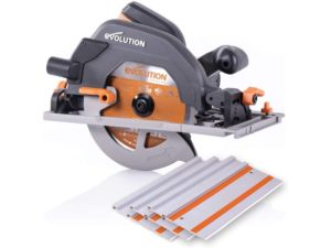 Evolution Power Tools R185CCSX 7-1 4 Multi-Material Circular Track Saw Kit w 40 Track