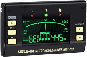 NEUMA Metronome Tuner for Guitar, Bass, Violin, Ukulele, Chromatic Instruments, 3 in 1 Digital Tuner Tone Generator