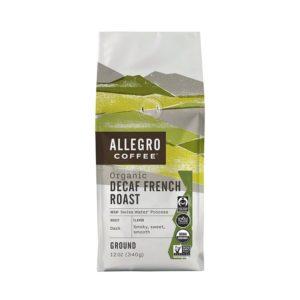 Allegro Coffee Decaf Organic French Roast Ground Coffee, 12 oz