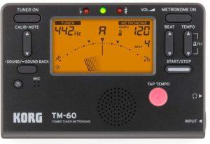 Korg TM60BK Best Guitar Tuner Metronome, Black