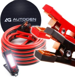 AUTOGEN Best Jumper Cables 1 Gauge 30 Ft 900A Heavy Duty Booster Cables with Professional Grade Clamps