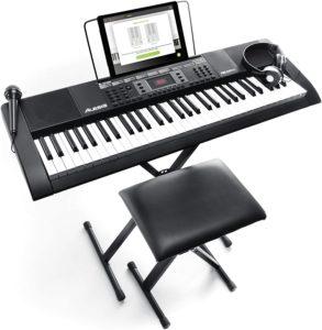 Alesis Melody Portable Keyboard, 61 Key, Pack