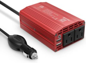 BESTEK 300W Best Power Inverter for Car, DC 12V to 110V AC Car Inverter with 4.2A Dual USB Car Adapter
