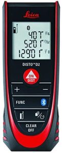 Leica DISTO D2 New 330ft Laser Distance Measure with Bluetooth 4.0, Black Red