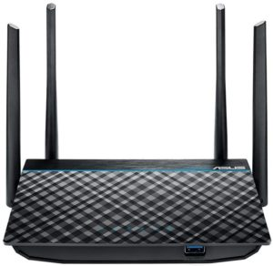 ASUS Best Router Under 100, Dual-Band 2x2 AC1300 Super-Fast WiFi 4-Port Gigabit Router with MU-MIMO and USB 3.0 (RT-ACRH13)