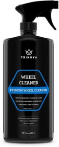 TriNova Wheel Cleaner Rim Cleaning Spray - Remove Tire Dirt, Oil Residue, Dust, Polished, Painted Alloy, Chrome Wheels. 18 OZ