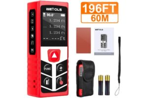 WETOLS Laser Distance Meters, 196ft M In Ft Best Laser Measure with Electronic Angle Sensor and Mute Function, for Pythagorean…