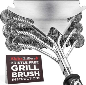 Alpha Grillers Best Grill Brush Bristle Free, Best Safe BBQ Cleaner with Extra Wide Scraper. Perfect 17-Inch Stainless Steel Tools for All Grill Types…