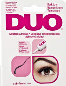 DUO Strip Eye Lash Adhesive for Strip Lashes, Dark Tone, 0.25 oz