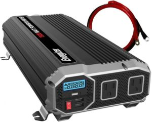 Energizer 1500 Watt 12V Best Power Inverter for Car, Converts 120 Volt AC with 2 USB Ports 2.4A Each