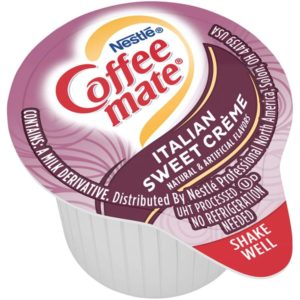 Nestle Coffee-mate Best Coffee Creamer, Italian Sweet Crème, Liquid Creamer Singles, Box of 180 Singles