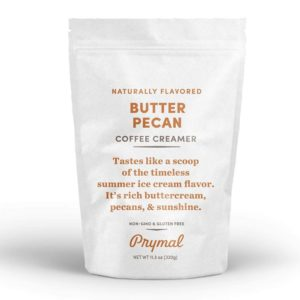 PRYMAL Best Coffee Creamer - Non Dairy, Keto, Sugar Free - Butter Pecan - 100% Natural, Non Refrigerated Powder with MCT - 11.3oz Bag