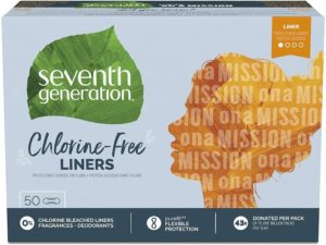Seventh Generation Pantiliners, Chlorine Free, 50 count, 6 Pack (Packaging May Vary)