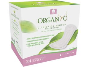 Organyc 100% Certified Organic Cotton Panty Liner – Everyday Pantiliner, Light Flow (24 Count)